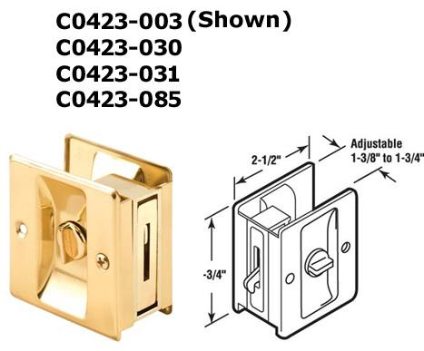 C0423   Pocket Door Accessories