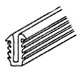 Glazing Channel for Single Strength Glass 1/16 (1.6mm)