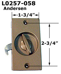 L0257 - Patio Screen Door Handles & Pulls