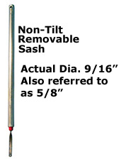 WB79TO-Tube Balances-For Non-Tilt, Removable Sash